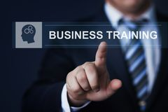 训练Webinar电子教学技能互联网技术概念的事务 免版税库存图片