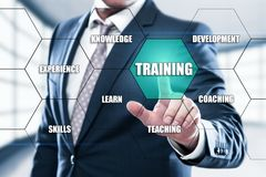 训练Webinar电子教学技能企业互联网技术概念 免版税图库摄影