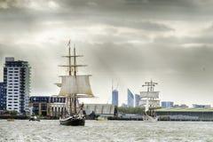 训练国际集合点高船赛船会的风帆 图库摄影