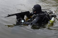 训练战斗机在莫斯科 免版税库存照片