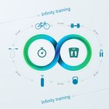 训练的Infographic与Mobius条纹 库存图片