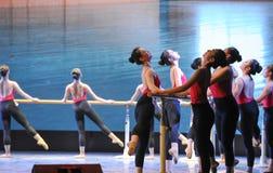 训练纬向条花基本的舞蹈培训班的 免版税库存照片