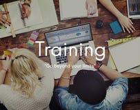 训练良师学习发展概念的技能能力 免版税库存图片