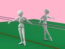 训练芭蕾舞女演员 库存例证