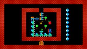 训练难题,减速火箭的样式低分辨率的pixelated比赛图表 影视素材