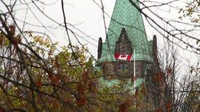 议会加拿大人旗子 影视素材