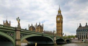 议会和大本钟议院在伦敦 库存图片