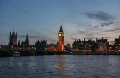 议会和大本钟议院在威斯敏斯特,伦敦,英国 免版税库存照片