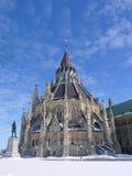 议会图书馆在渥太华 免版税库存照片
