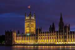 议会在威斯敏斯特安置 免版税图库摄影
