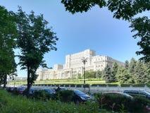 议会在布加勒斯特安置 库存照片