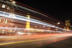 议会在晚上,伦敦,英国大本钟和议院  免版税图库摄影
