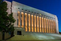 议会在赫尔辛基安置 免版税图库摄影