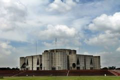 议会在达卡安置;孟加拉国 库存图片
