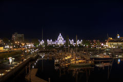 议会大厦内在港口BC维多利亚 库存图片