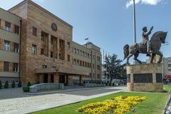 议会大厦在市斯科普里,马其顿共和国 图库摄影