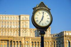 议会大厦在布加勒斯特 库存照片