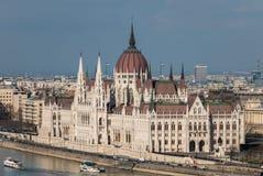 议会大厦在布达佩斯匈牙利 免版税库存照片