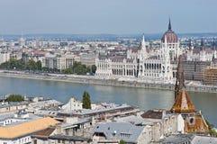 议会大厦在布达佩斯,匈牙利 免版税库存照片