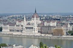 议会大厦在布达佩斯,匈牙利 库存图片