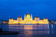 议会大厦在布达佩斯,匈牙利 免版税图库摄影