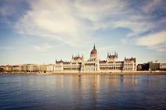 议会大厦在布达佩斯 库存照片