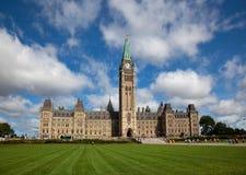 议会大厦在渥太华,加拿大 图库摄影