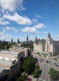 议会大厦在渥太华,加拿大 免版税图库摄影