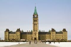 议会大厦在渥太华 免版税库存照片