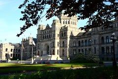 议会大厦在维多利亚不列颠哥伦比亚省 库存照片