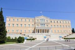议会大厦在雅典,希腊 免版税库存照片