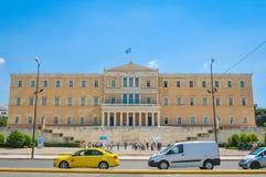 议会大厦在雅典,希腊 库存照片