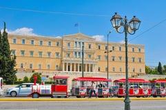 议会大厦在雅典,希腊 库存图片