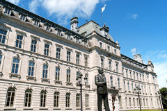 议会大厦在魁北克市,加拿大 库存图片