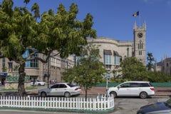 议会大厦在巴巴多斯 免版税库存照片