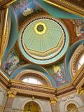 议会大厦天花板BC维多利亚加拿大 库存图片