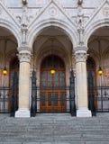 议会大厦细节在布达佩斯,匈牙利 免版税库存图片