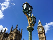 议会大本钟和议院在伦敦,英国 免版税图库摄影