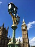 议会大本钟和议院在伦敦,英国 库存照片