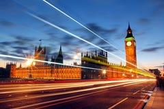议会大本钟和议院  免版税库存图片