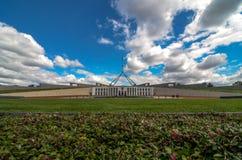 议会安置,堪培拉,澳大利亚 免版税库存照片
