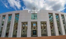 议会安置,堪培拉,澳大利亚 免版税库存图片