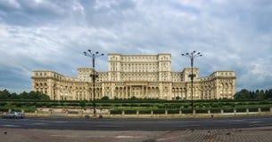 议会宫殿在布加勒斯特 图库摄影