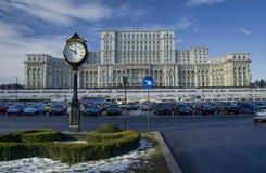 议会宫殿在布加勒斯特 免版税图库摄影