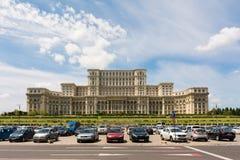 议会宫殿在布加勒斯特 免版税库存照片