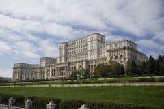 议会宫殿在布加勒斯特 库存图片