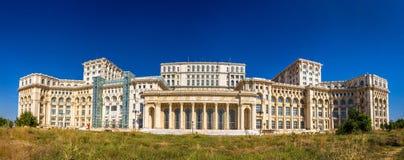 议会宫殿的全景在布加勒斯特 图库摄影