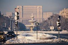 议会宫殿-布加勒斯特 图库摄影