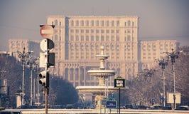 议会宫殿-布加勒斯特 库存图片