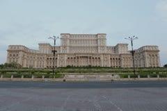议会布加勒斯特宫殿  免版税库存照片